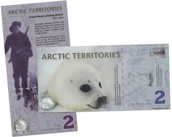 2 Polar Dollars Arktische Territorien Robbenbaby