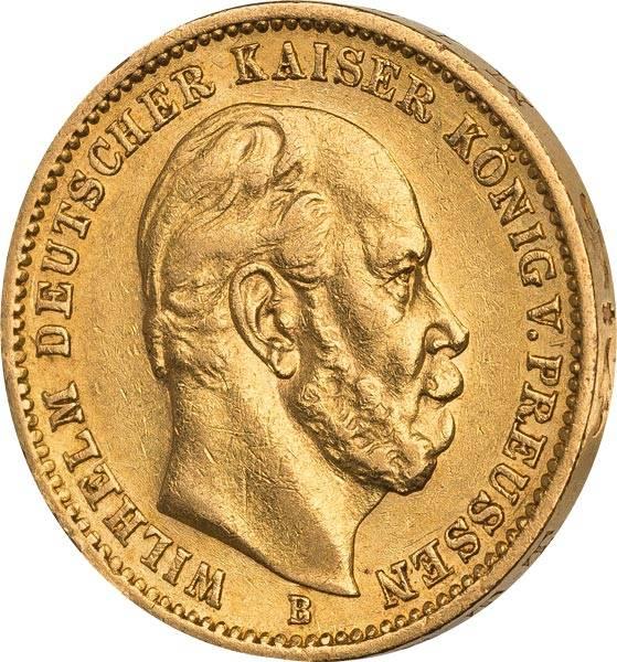 20 Mark Preußen Kaiser Wilhelm I. 1871-1888
