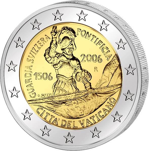 2 Euro Vatikan 500 Jahre Schweizergarde 2006