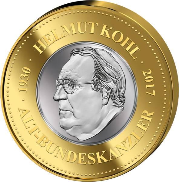 Gedenkprägung Helmut Kohl