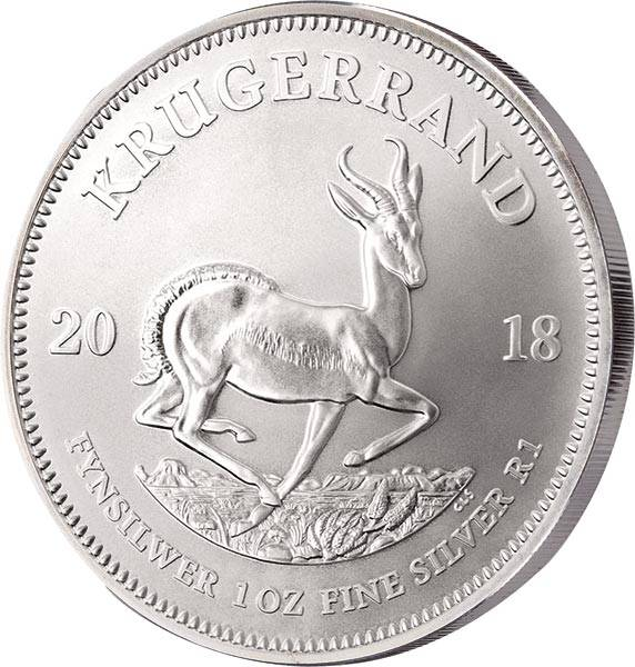 1 Unze Silber Südafrika Krügerrand 2018