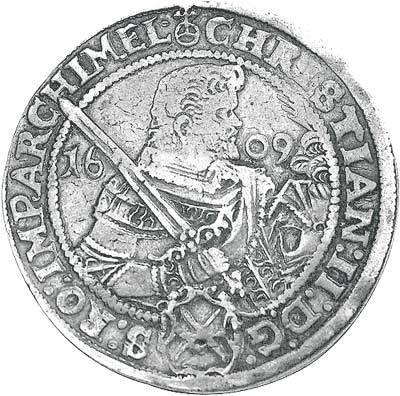 Taler Sachsen Christian II. 1591-1611 Sehr schön