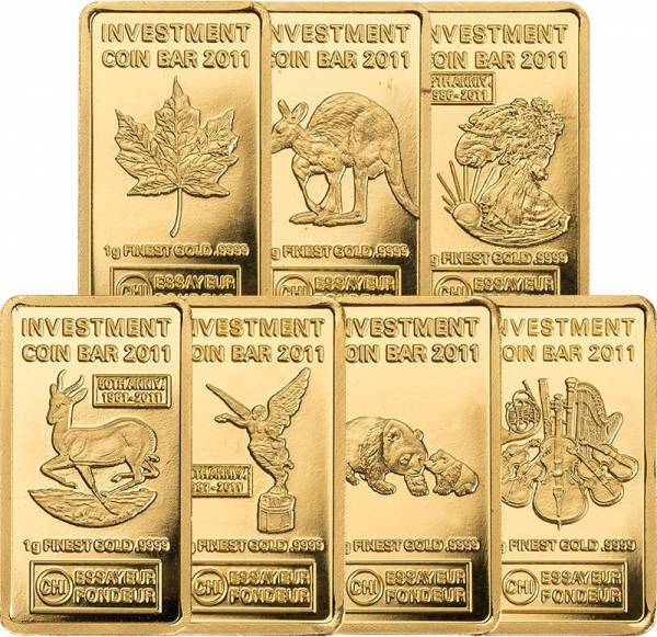 Investment Coin Bar Collection 2011