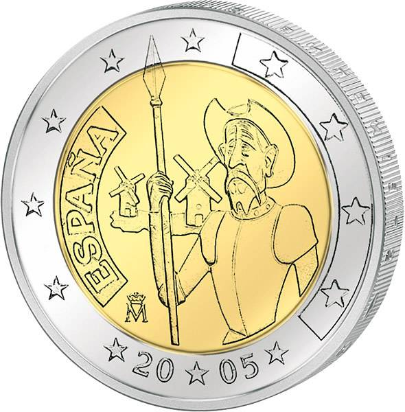 2 Euro Spanien Don Quijote 2005