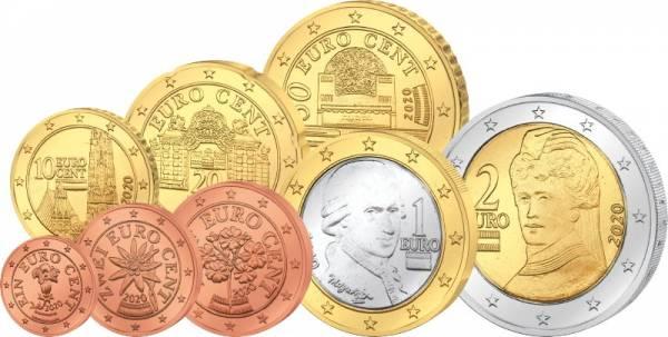 Euro-Kursmünzensatz Österreich