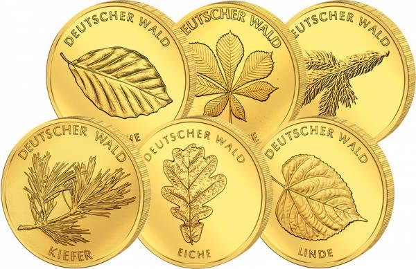 6 x 20 Euro BRD Deutscher Wald 2010-2015