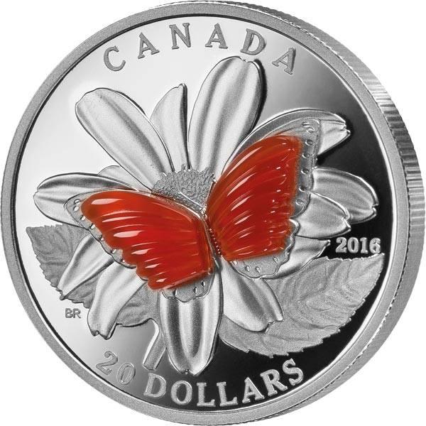20 Dollars Kanada Schmetterlingsflügel