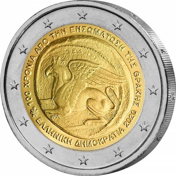 2 Euro Griechenland 100. Jahrestag der Vereinigung Thrakiens mit Griechenland 2020