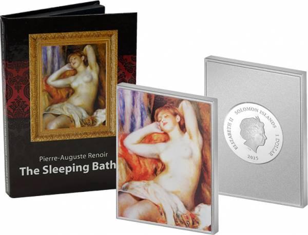 1 Dollar Salomonen Pierre Renoir Die Schlafende 2015 Polierte Platte (PP)