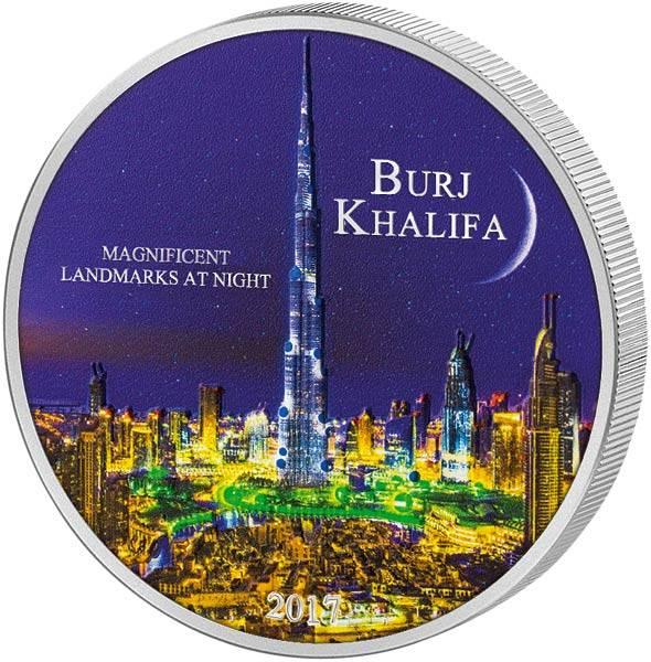 2.000 Francs Elfenbeinküste Magnificent Landmarks at Night Burj Khalifa 2017 - FOTOMUSTER