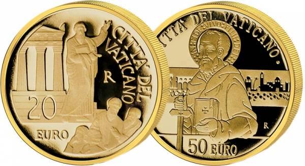 20 + 50 Euro Vatikan Mission in Mazedonien, Griechenland und Kleinasien + Zeuge Jesu Christi 2020