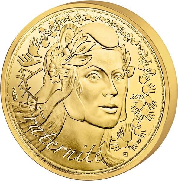 1.000 Euro Frankreich Marianne Fraternité 2019