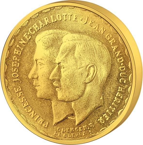 20 Francs Luxemburg Hochzeit Jean und Josephine 1953