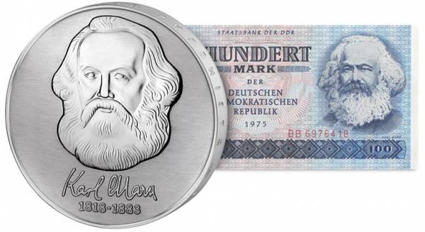 20 + 100 Mark DDR Karl Marx 1975+1983