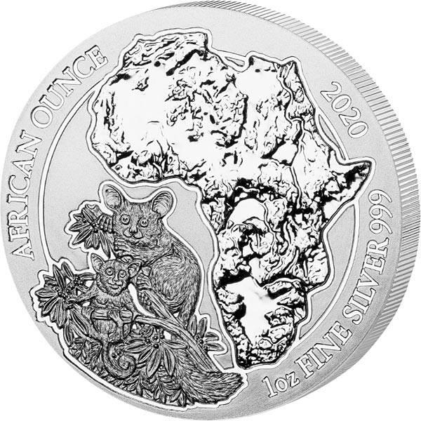1 Unze Silber Ruanda Bushbaby 2020