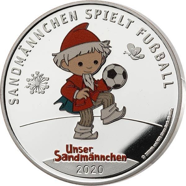 Gedenkprägung Unser Sandmännchen - Sandmännchen spielt Fußball