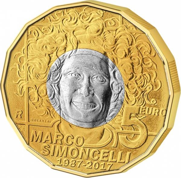 5 Euro San Marino 30. Geburtstag Marco Simoncelli 2017