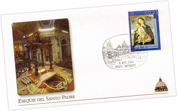 Vatikan Gedenkbrief Die Beisetzung des Papstes 2005 Vatikan