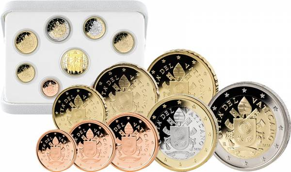 Euro-Kursmünzensatz Vatikan 2020 inklusive 50-Euro-Goldgedenkmünze