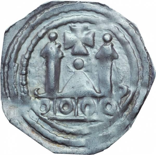 Pfennig Salzburg Erzbischof Adalbert III. Prinz von Böhmen 1168-1200 ss-vz