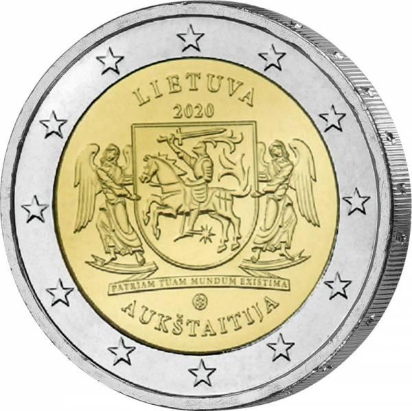 2 Euro Litauen Litauische Ethnographische Regionen: Aukstaitija 2020