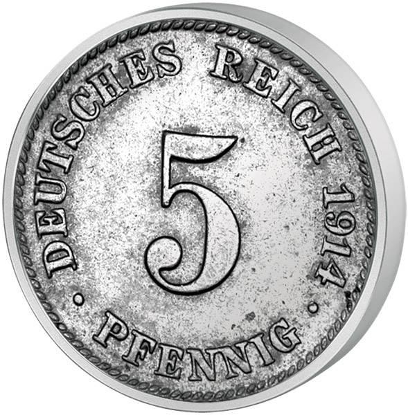 5 Pfennig Deutsches Kaiserreich großer Adler 1890-1915 Sehr schön