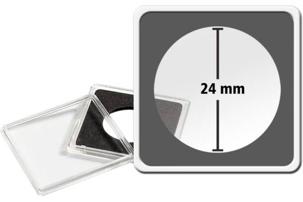 10er-Pack QUADRUM-Münzkapsel Durchmesser 24 mm