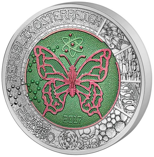 25 Euro Österreich Mikrokosmos 2017