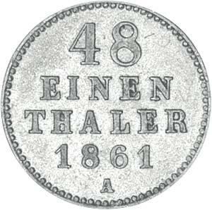 1/48 Taler Mecklenburg-Schwerin Großherzog Friedrich Franz II. 1848-1866 Sehr schön