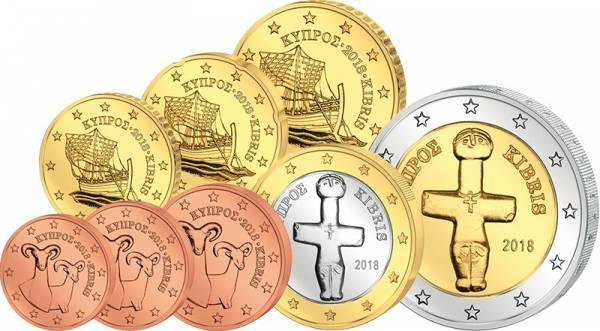 Euro-Kursmünzensatz Zypern 2018