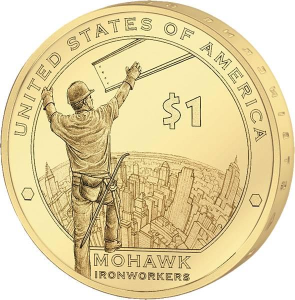 1 Dollar USA Mohawk Eisenarbeiter 2015