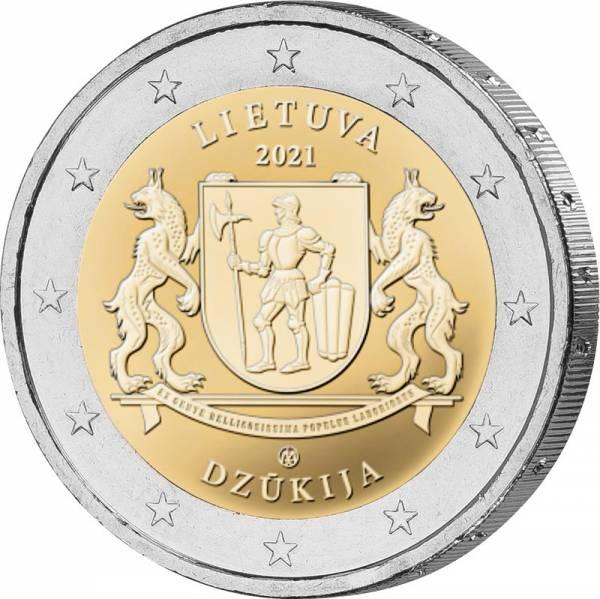 2 Euro Litauen Ethnografische Regionen Dzukija 2021