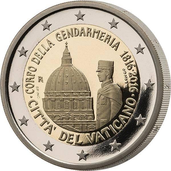 2 Euro Vatikan Ersttagsedition Gendarmeria 2016