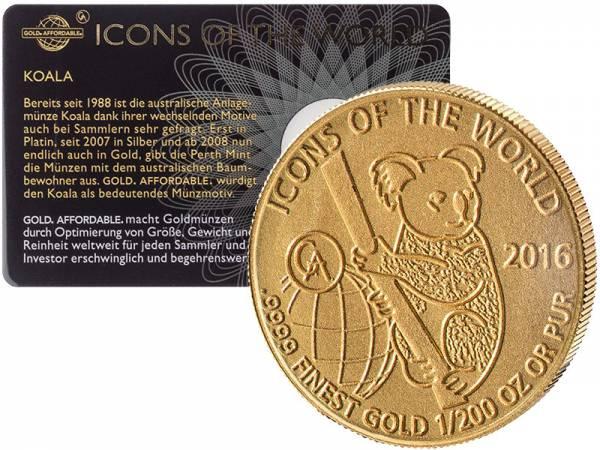 1/200 Unze Gold Ruanda Koala 2016