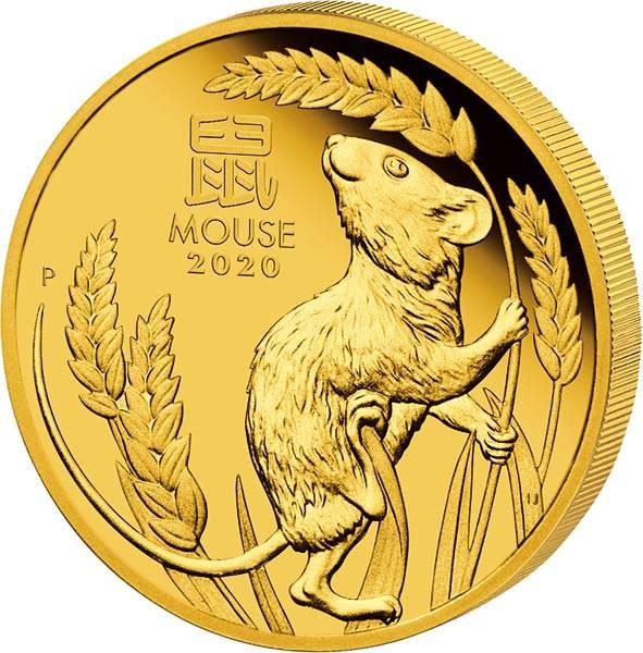 1 Unze Gold Australien Jahr der Maus 2020