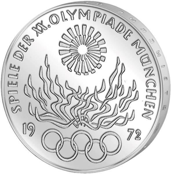 10 Dm Brd Olympia Vi Olympisches Feuer 1972 Munzenversandhaus Reppa Gmbh