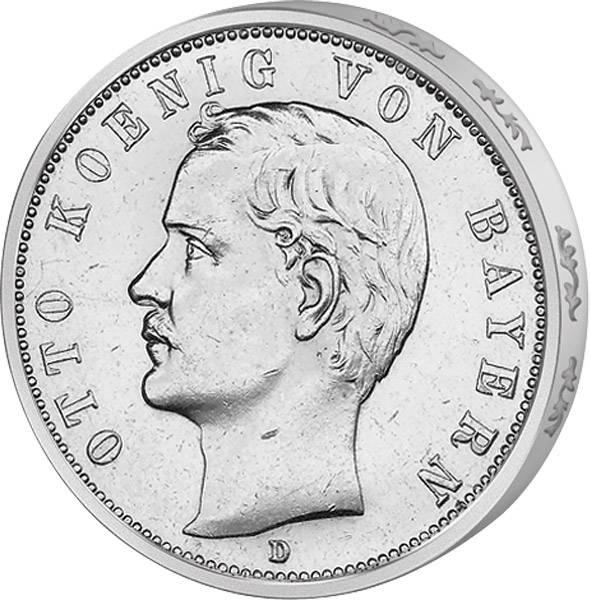 5 Mark Bayern Otto 1888 Sehr schön