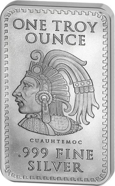 1 Unze Silberbarren Aztekenkalender