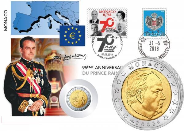 2 Euro Numisbrief Monaco Fürst Rainier III. 2018