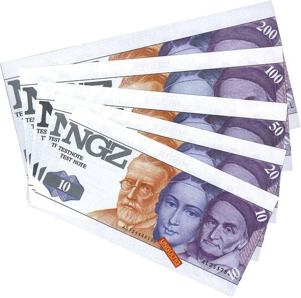 5 Werte BRD DM BRD-Testbanknoten div. Jahrgänge kassenfrisch