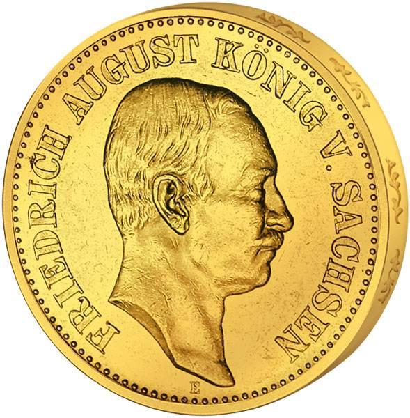 20 Mark Sachsen Friedrich August 1905-1914 Sehr schön