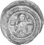 Brakteat Silber Erzbischof Wichmann von Seeburg 1475-82 Sehr schön