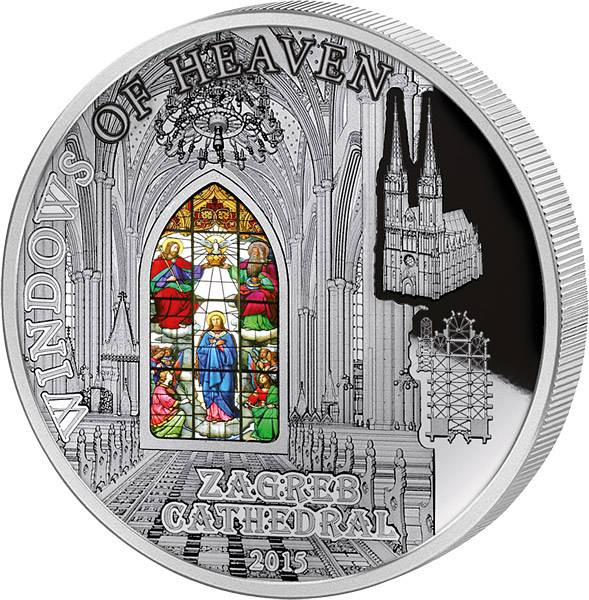 10 Dollars Cook-Inseln Kathedrale von Zagreb Maria-Himmelfahrt-Fenster 2015 - FOTOMUSTER