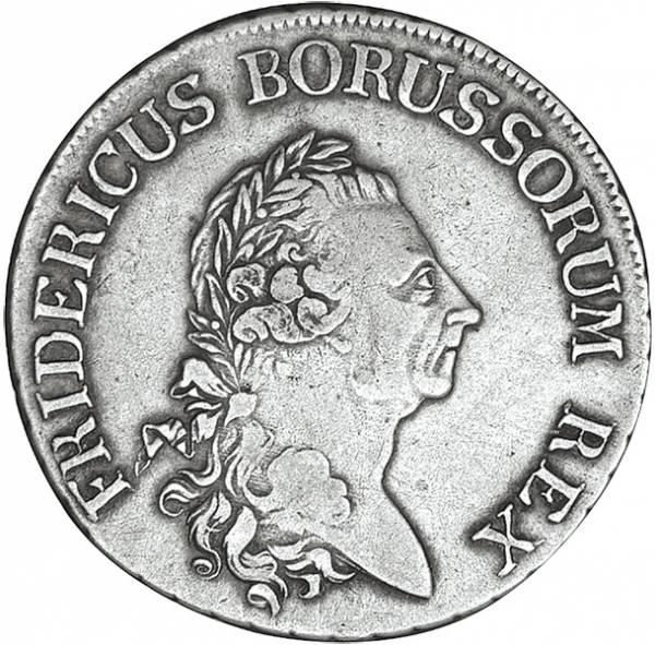 Reichstaler Preußen König Friedrich der Große 1775-1786 s-ss
