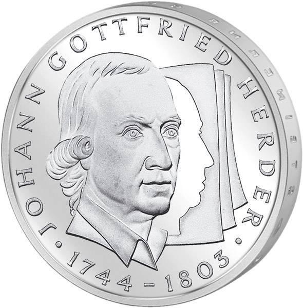 10 DM Münze BRD Johann Gottfried Herder 1994