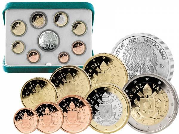 Euro-Kursmünzensatz Vatikan 2019 inklusive 20-Euro-Silbergedenkmünze