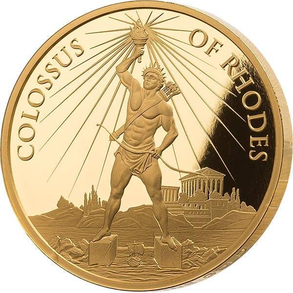 1 Unze Gold Gedenkprägung  Koloss von Rhodos