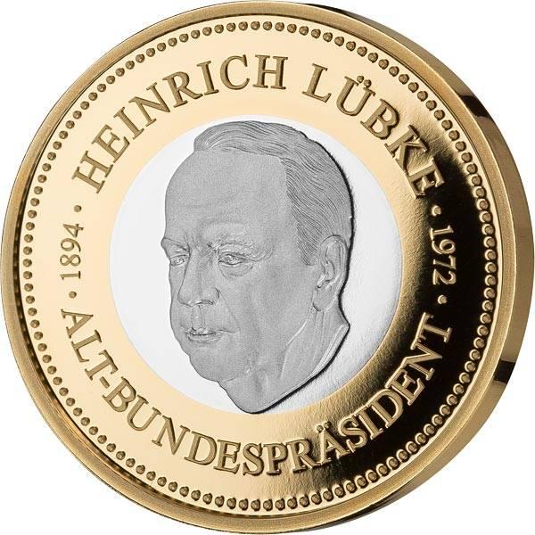 Gedenkprägung Heinrich Lübke