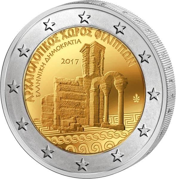 2 Euro Griechenland Archäologische Anlagen von Philippi 2017