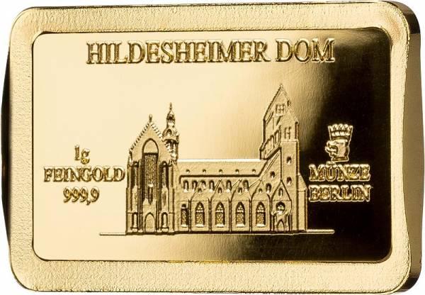 1 Gramm Goldbarren Deutsche Wahrzeichen Hildesheimer Dom
